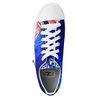 Dude Blue Peafowl Feather Printed Shoes