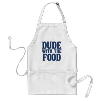 Dude With The Food Blue Standard Apron
