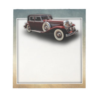 Duesenberg (Duesy) Model J Classic Car Notepad