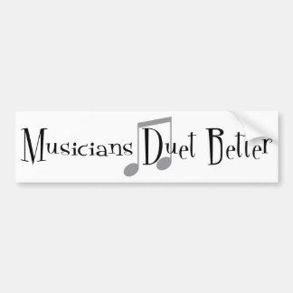 Duet (Notes) Bumper Sticker