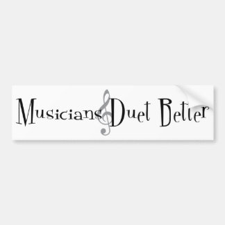 Duet (Treble) Bumper Sticker