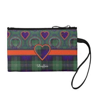 Duffes clan Plaid Scottish kilt tartan Coin Purse