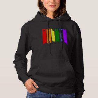 Duluth Minnesota Gay Pride Rainbow Skyline Hoodie
