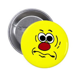Dumb Smiley Face Grumpey 6 Cm Round Badge