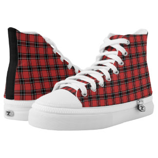 Dunbar Scotland District Tartan Hi-Top Printed Shoes