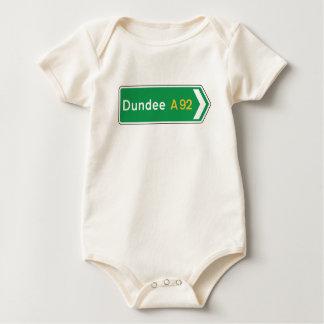 Dundee, UK Road Sign Baby Bodysuit