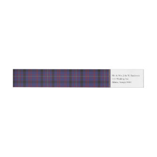 Dundonald Plaid Wrap Address Labels