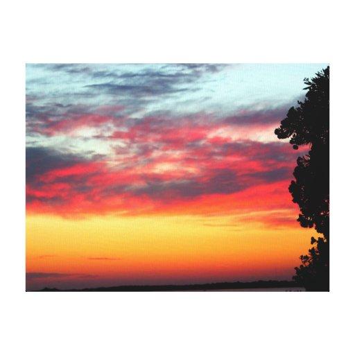 Dunedin, Florida Sunset 2 Stretched Canvas Print