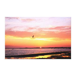 Dunedin Florida Sunset 3 Stretched Canvas Prints