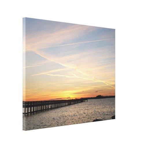 Dunedin Florida Sunset Stretched Canvas Prints