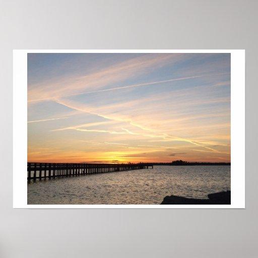 Dunedin Florida Sunset Poster