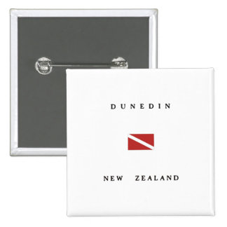 Dunedin New Zealand Scuba Dive Flag 15 Cm Square Badge
