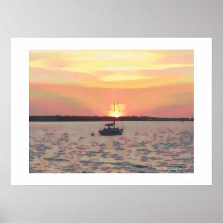 Dunedin Sunset Poster
