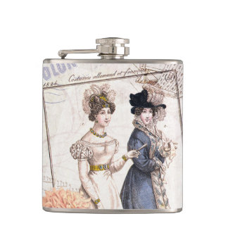 Duo for Piano - Beautiful Ladies Vintage Fashions Hip Flask