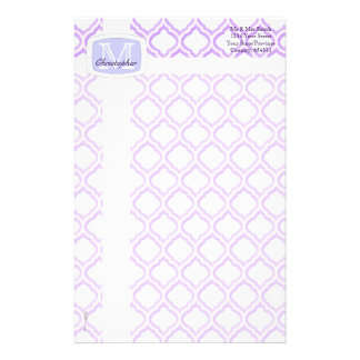 Duo-tone Moroccan Trellis (Lilac) Stationery