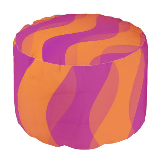 Duo Waves orange pink + your ideas Pouf