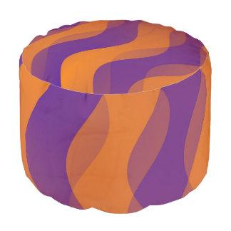 Duo Waves orange violet + your ideas Pouf