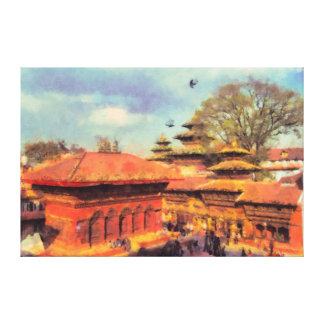 Durbar Square Nepal Kathmandu Gallery Wrapped Canvas