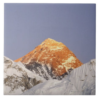 Dusk in Mount Everest, Nepal Large Square Tile