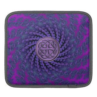 Dusky Purple Celtic Fractal Swirl iPad Sleeve