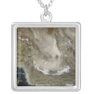 Dust storm in Iran Silver Plated Necklace