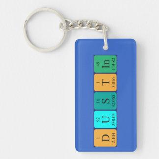 Dustin periodic table name keyring Single-Sided rectangular acrylic key ring