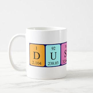 Dustin periodic table name mug