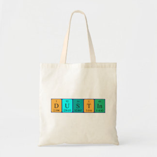 Dustin periodic table name tote bag