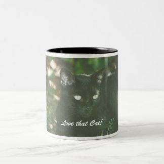 Dustin the Cat, Love that Cat! Two-Tone Coffee Mug