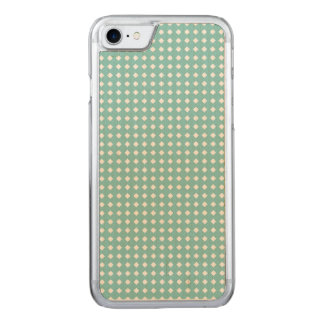 Dusty Teal Cute Pattern Little White Diamonds Carved iPhone 7 Case