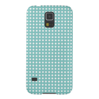 Dusty Teal Cute Pattern Little White Diamonds Cases For Galaxy S5