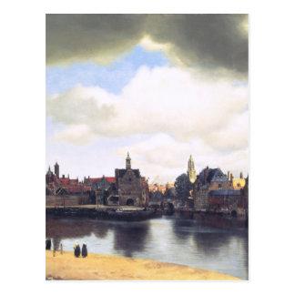 Dutch Artist Vermeer Painting Postcard
