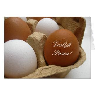 dutch easter egg greeting card