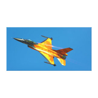 Dutch F-16 Fighting Falcon Jet Airplane Gallery Wrapped Canvas