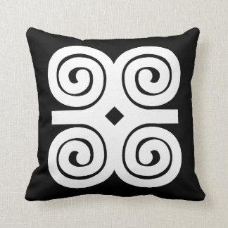 Dwennimmen Strength|Humility White Adinkra Symbol Cushion