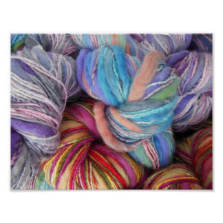 Dyed Knitting Yarn Poster