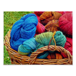 Dyed Wool for Knitting Poster