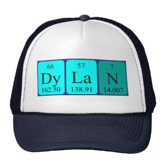Dylan periodic table name hat