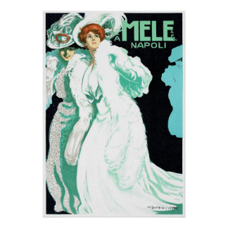 E.A. Mele ~ Vintage Napoli Italy Advertisement Poster