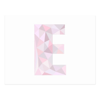 E - Low Poly Triangles - Neutral Pink Purple Gray Postcard