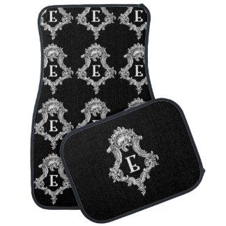 E Monogram Inital Set of Car Mats Floor Mat