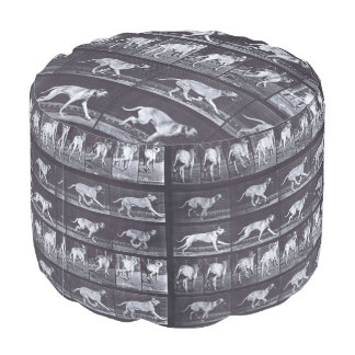 EADWEARD MUYBRIDGE: Dog Dread Galloping - Pouffe Pouf