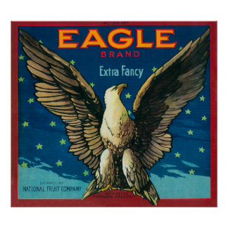 Eagle Apple Crate Label Print