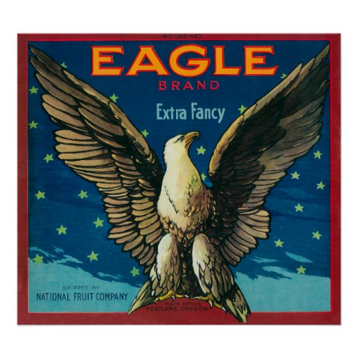 Eagle Apple Crate Label Print