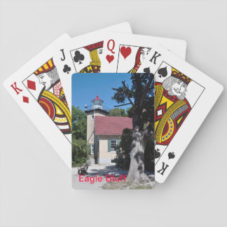 Eagle Bluff lighthouse photo on playing cards. Playing Cards