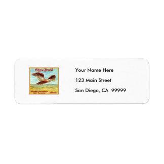 Eagle Brand Fruit Crate Label Return Address Label