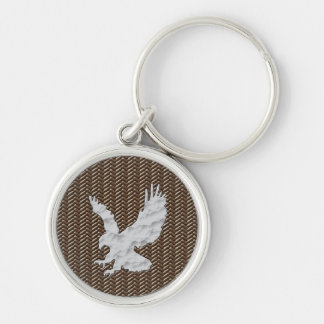 Eagle Brown Leather Key Ring