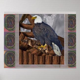 Eagle King of Bird of Prey American Habitat Regal Print