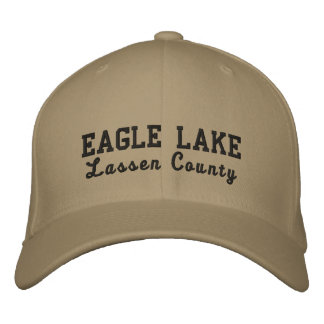 Eagle Lake Lassen County Hat Embroidered Baseball Caps