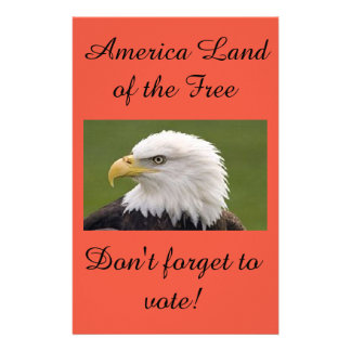 Eagle land of the free poster 14 cm x 21.5 cm flyer